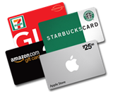 ways of giving gift card donation